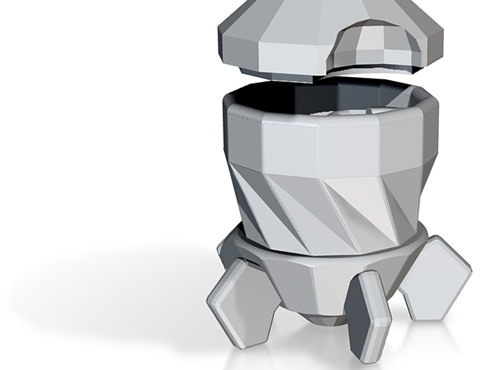 Whimsical Low-Poly Rocket Espresso Cup 3d printed Whimsical Low-Poly Rocket Espresso Cup