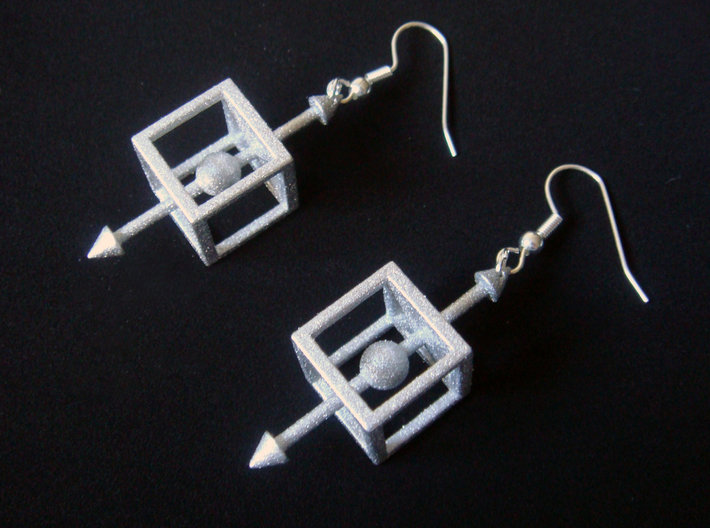 Physics Force-Body Diagram Earrings 3d printed