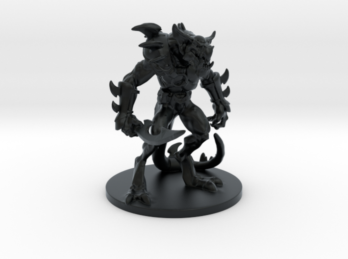 Lizard Warrior (table top edition) 3d printed