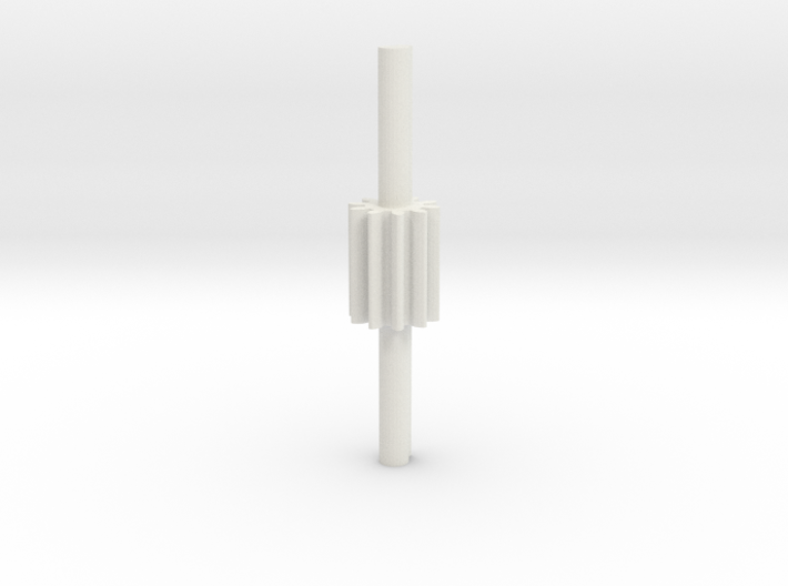 Cylindrical gear Mn=1 Z=10 - Alfa=20° Beta=0° b=15 3d printed