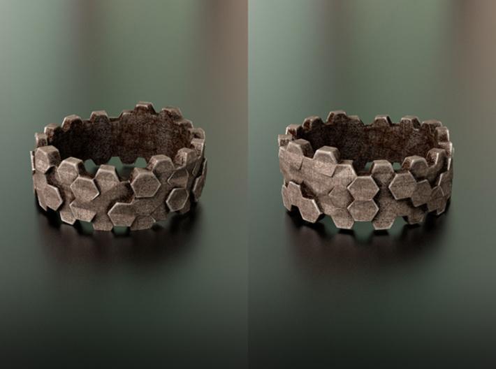 Hengsha ring: size 7 (US) O (US) 3d printed