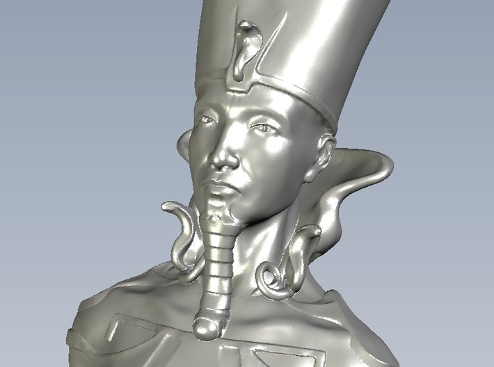 1/9 scale Pharaoh Egyptian king bust 3d printed