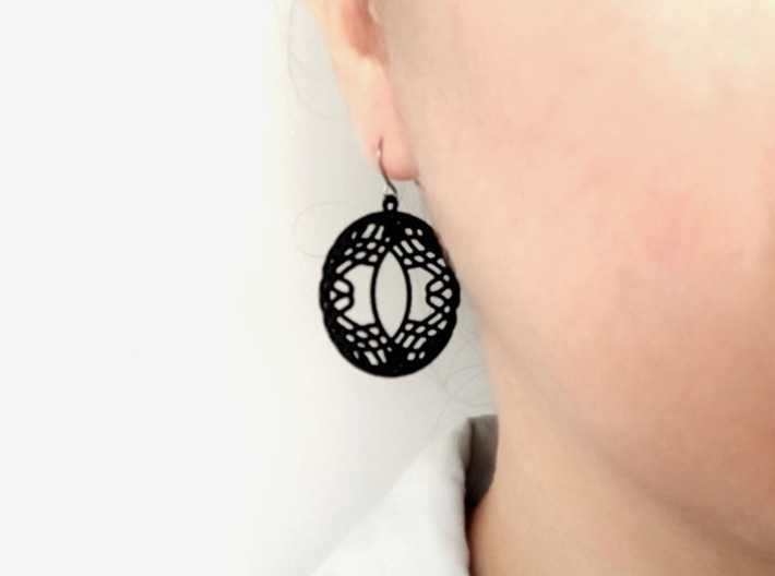 Celtic pattern earrings 1 3d printed
