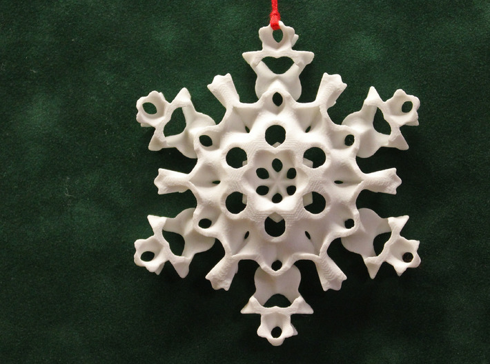 Gyroid Snowflake Ornament 2 3d printed