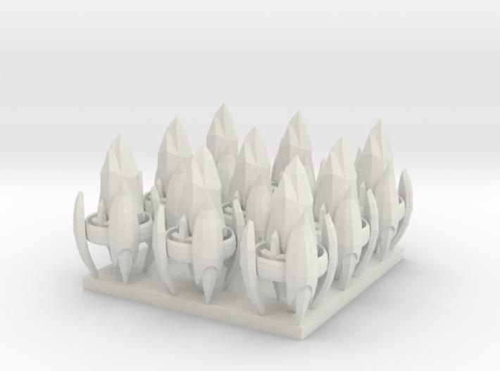 1/700 Protoss Pylons X9 3d printed