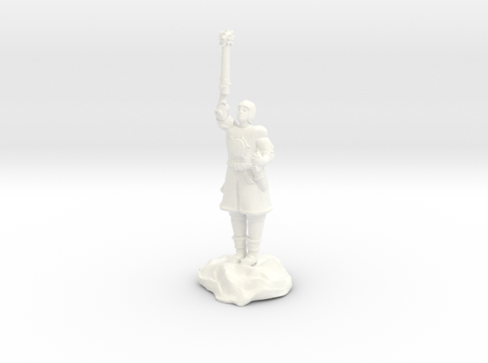 Human Cleric Zealot Of Pelor with Mace 3d printed