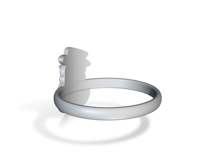 Snowman Ring Us6 3d printed