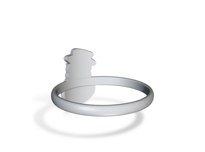 Snowman Ring US8 3d printed
