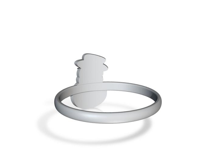 Snowman Ring US9,5 3d printed