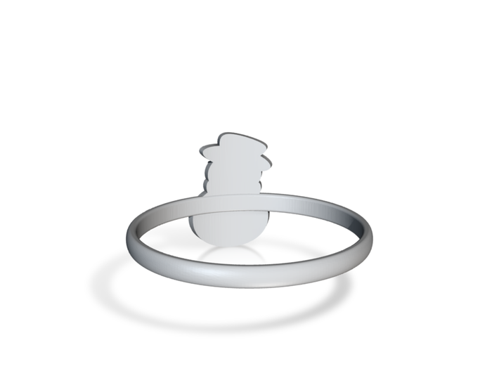Snowman Ring US12 3d printed