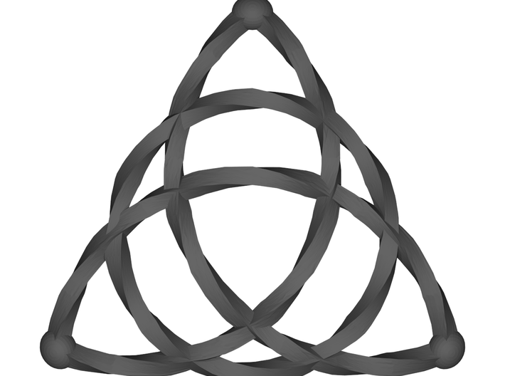 Triquetra Celtic Knot - Small 3d printed Render