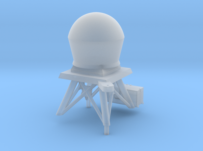 1/96 scale Perry Mast #4 with updated radar dome 3d printed