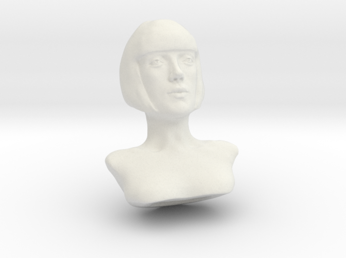 Woman with Short Hair  3d printed