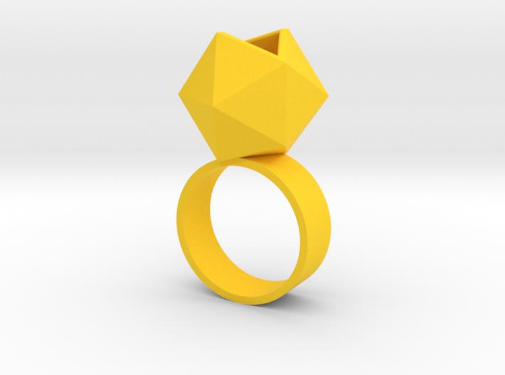Icosahedron Planter Ring 3d printed