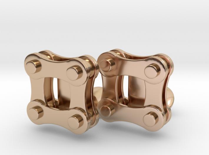 Bike Chain Cufflinks 3d printed