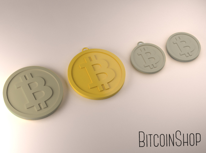 Bigger Size bitcoin (w/loop) 3d printed