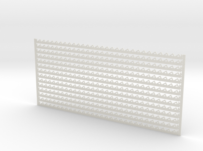Arch. Fascia (Barge) Boards - Zig Zag Pattern 3d printed