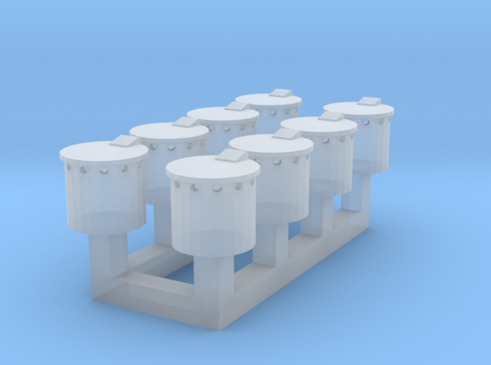 Oil Pots Only OO 3d printed