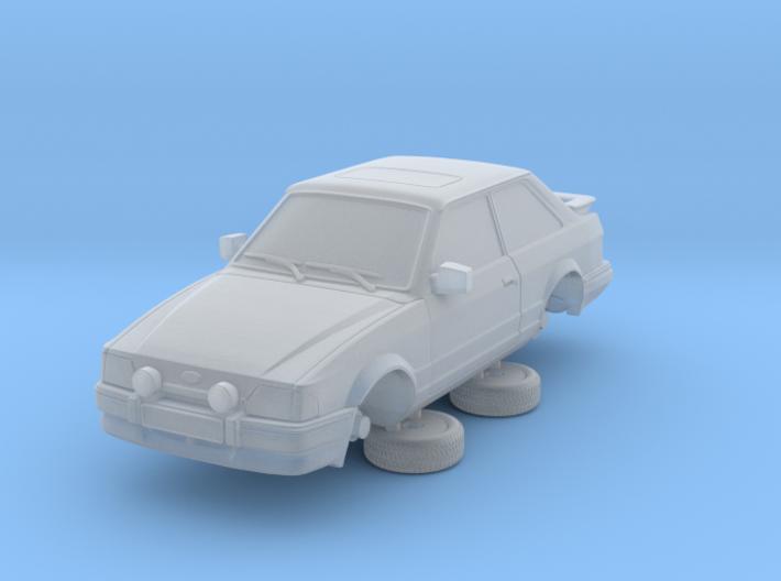 Ford Escort Mk4 1-76 2 Door Xr3i Hollow 3d printed