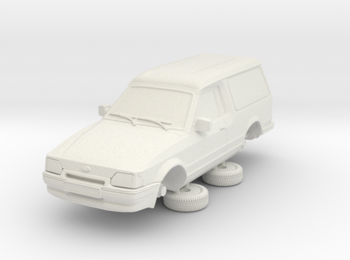 Ford Escort Mk4 1-76 2 Door Large Van Hollow 3d printed