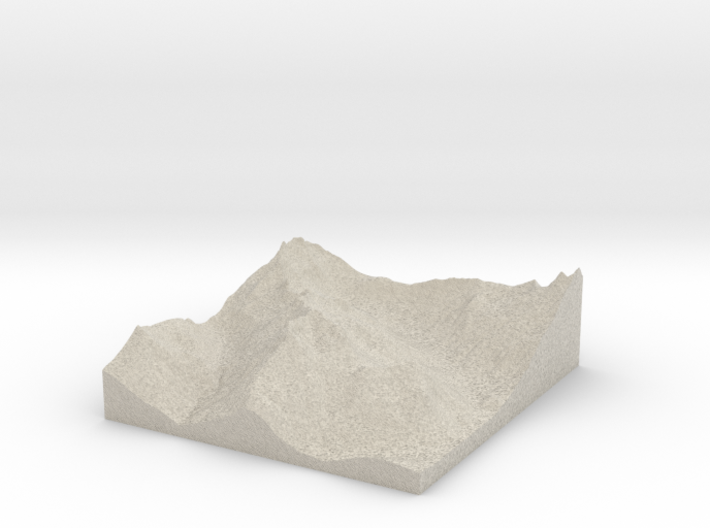 Model of Denny Mountain 3d printed