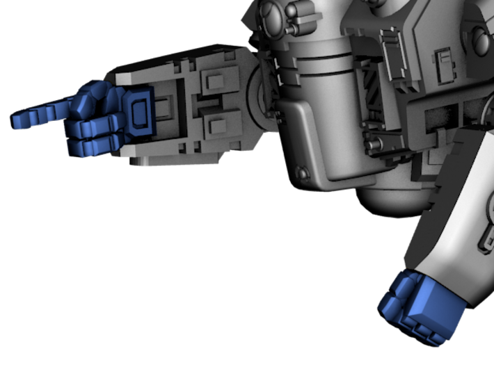 Stormwave Poseable Hands 3d printed Model use (in blue)