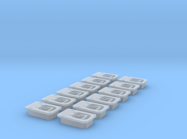 Paddle latch in 1:12 scale 3d printed