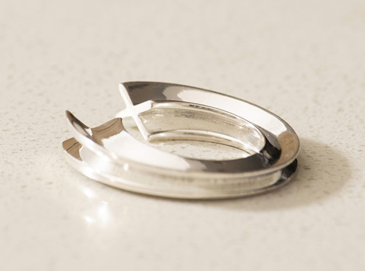 X Letter Ring 3d printed