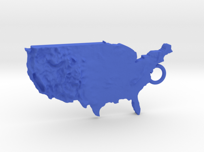 Usa Relief Map keychain 3d printed