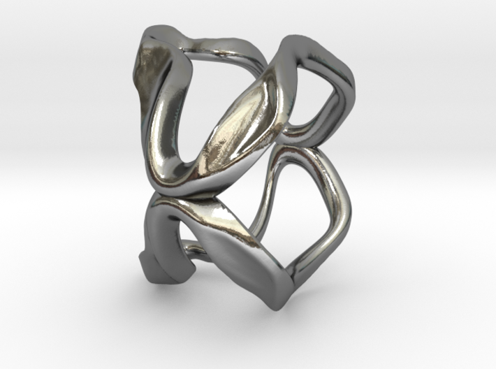Mind generated ring - my idea of art 3d printed