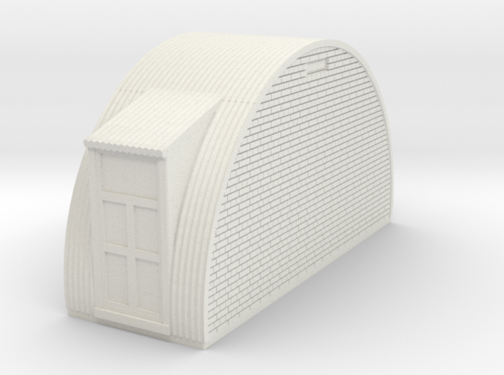 N-76-end-brick-nissen-hut-wind-door-1a 3d printed