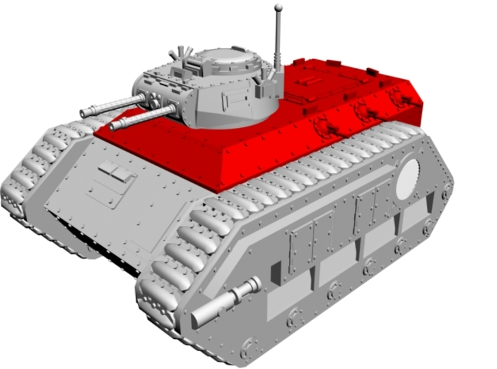 28mm Zerber APC troops carrier hull 3d printed red-marked parts only