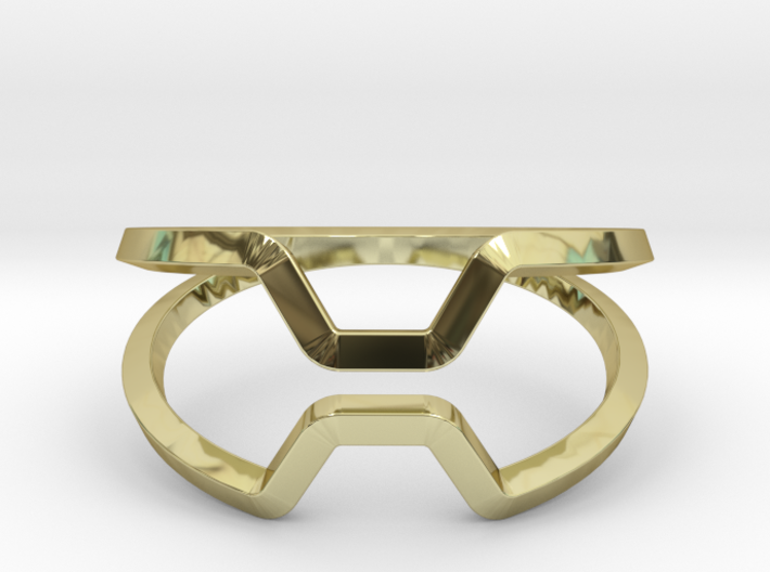 """""""Honey, Kiss me if you can"""",ring US size 8, d=18,2 3d printed"""