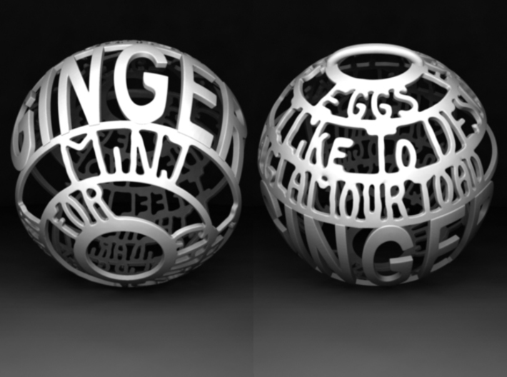 Ginger Quotaball 3d printed
