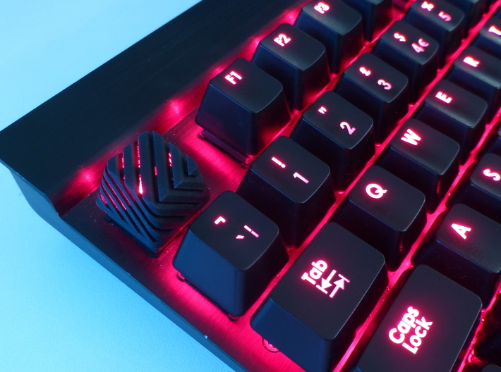 Sliced Cherry MX Keycap 3d printed