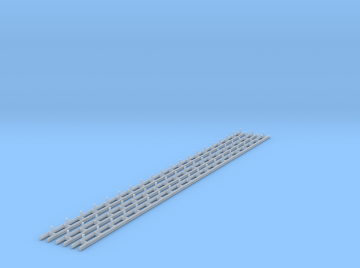 N Scale Guard Rail 3x200mm 3d printed