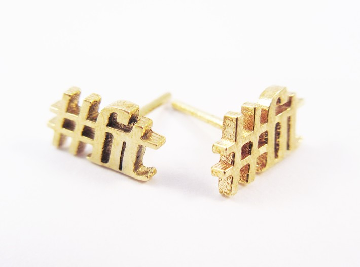 #FIT earrings for the Fitness Fanatic 3d printed #fit studs