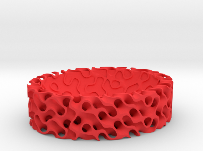 Gyroid Bowl Oval 3d printed