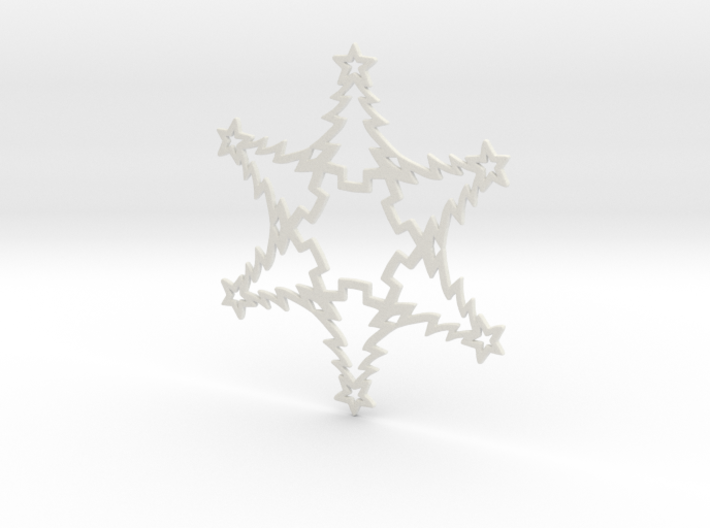 Christmas Tree Snowflake Ornament 3d printed