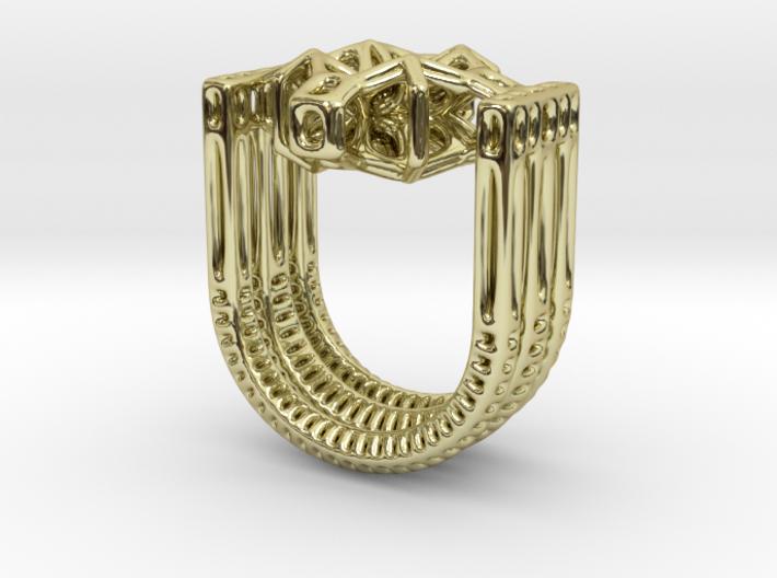 Tetrahedrical Ring 3d printed