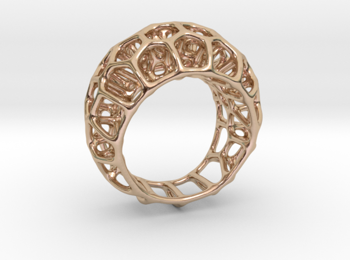 Voronoi Cell Ring II  (Size 54) 3d printed