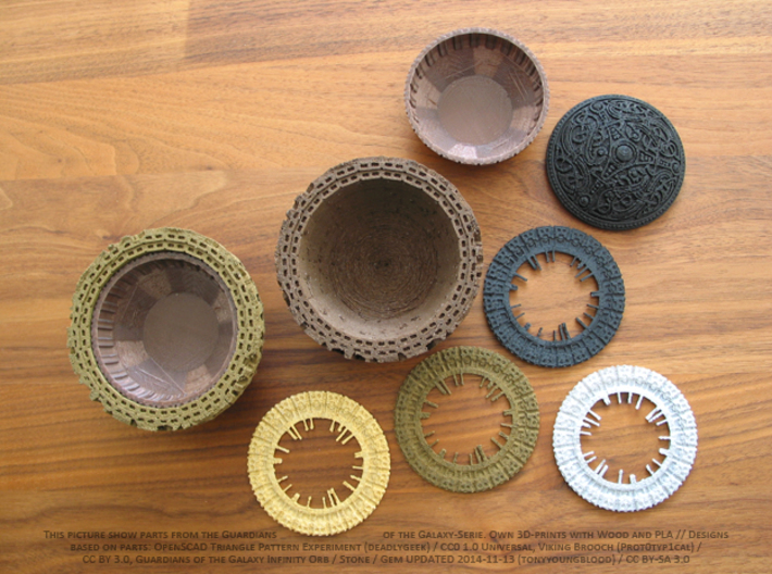 Guardians of the Galaxy Plant Pot 3d printed Own 3D-Prints with wood, PLA and some are painted.