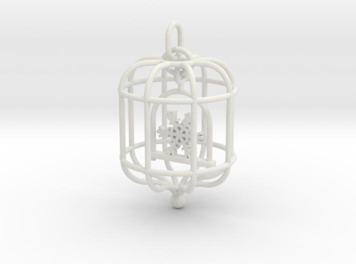 Snowflake Birdcage 3d printed