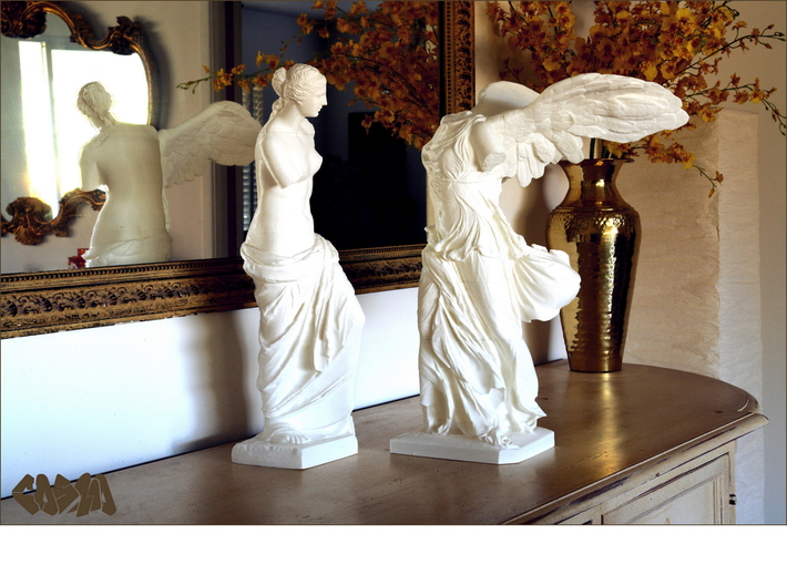 "Venus de Milo (24.25"" tall) 3d printed Venus de Milo and Winged Victory (19.4"" and 20"" versions shown. Winged Victory not included)"