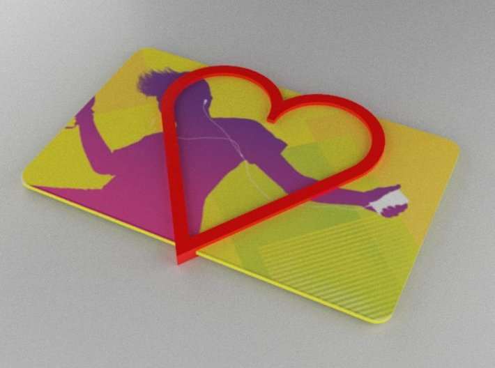 Gift Card Holder Heart 3d printed