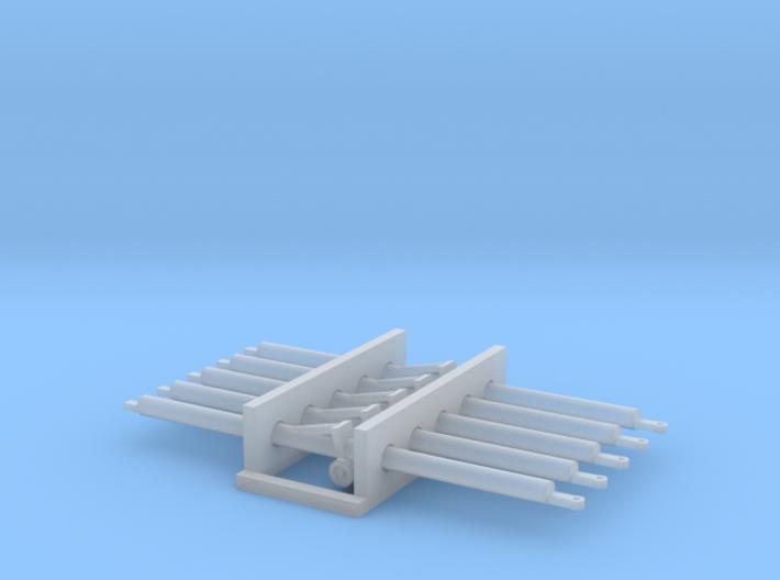 1:72 5x Aircraft Towbar 3d printed