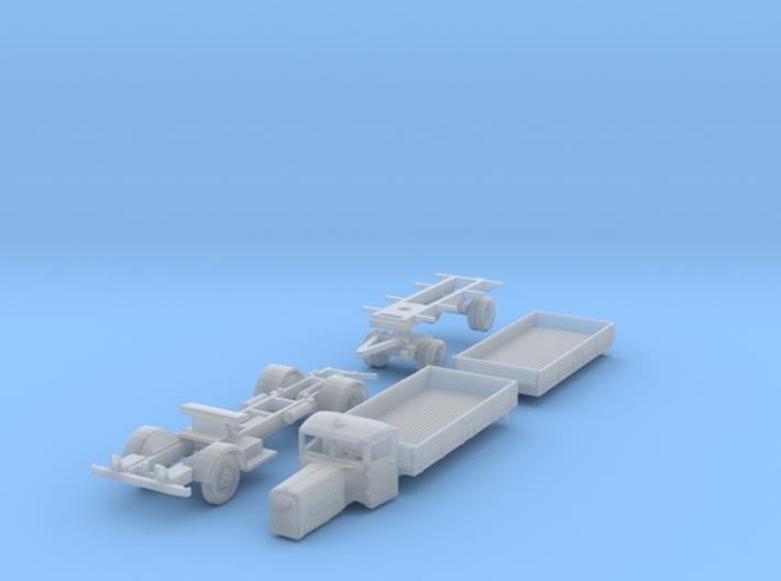 Henschel 6J2 Pritschen-Lastzug (N 1:160) 3d printed