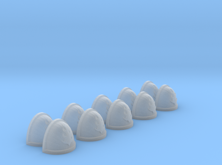 10 Shoulder Pads Flame #1 3d printed
