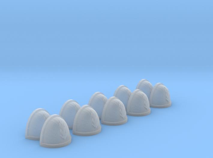 10 Shoulder Pads Flame #2 3d printed