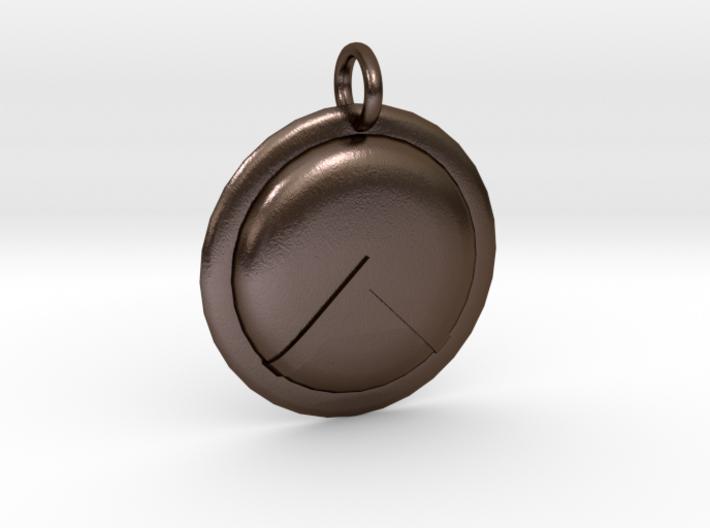 Spartan Shield Pendant/Keychain Ornament 3d printed